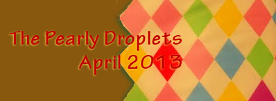 pearly droplets newsletter harlequin header