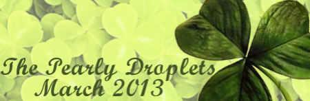 pearly droplets newsletter shamrock header