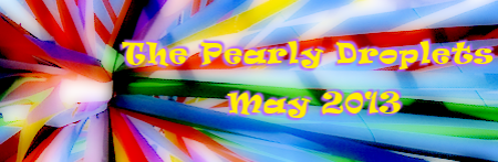 pearly droplets newsletter may day header