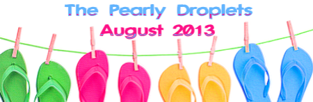 pearly droplets newsletter flipflop header
